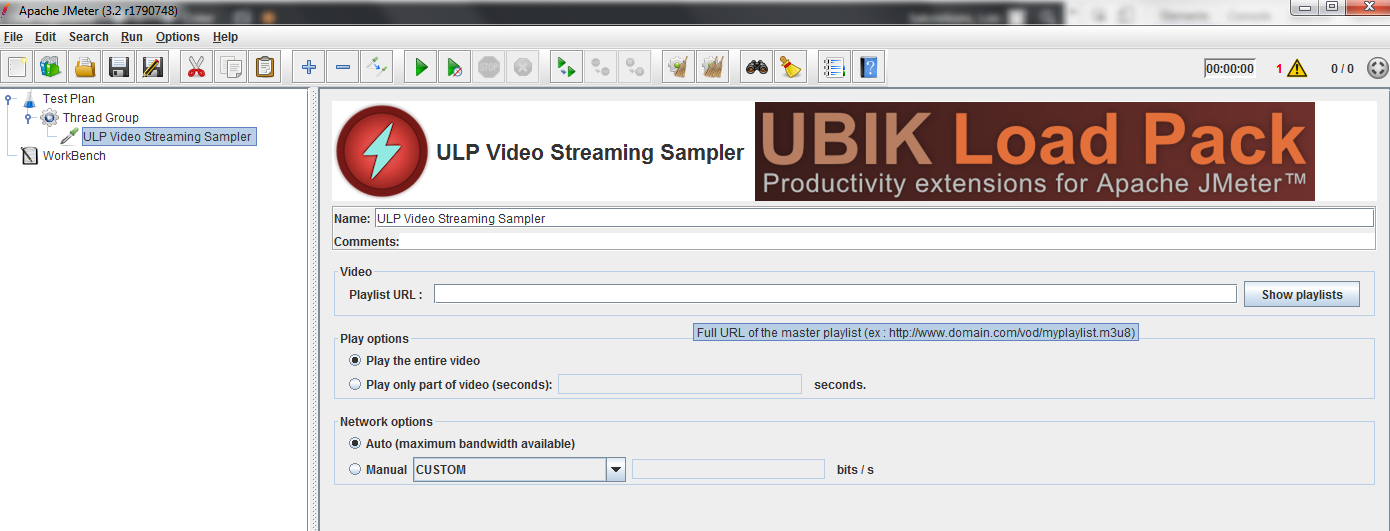 Load Testing Smooth Streaming Video with JMeter > Ubik