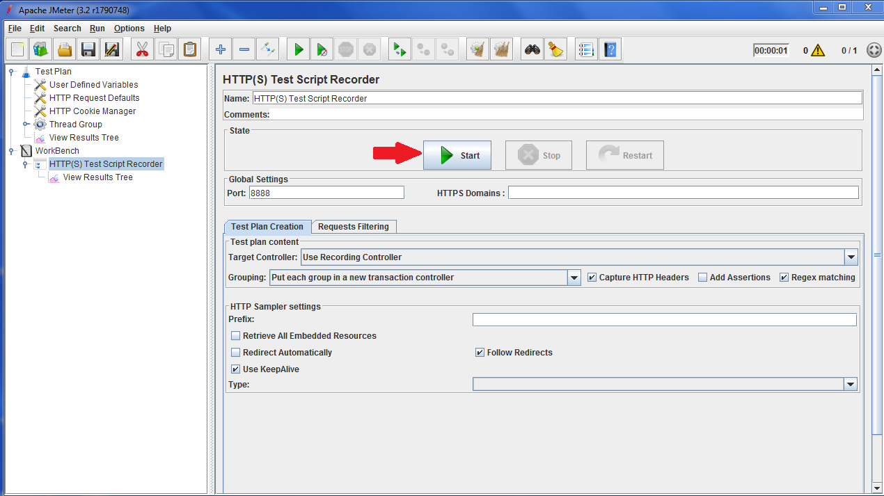 JMeter Test Script recorder