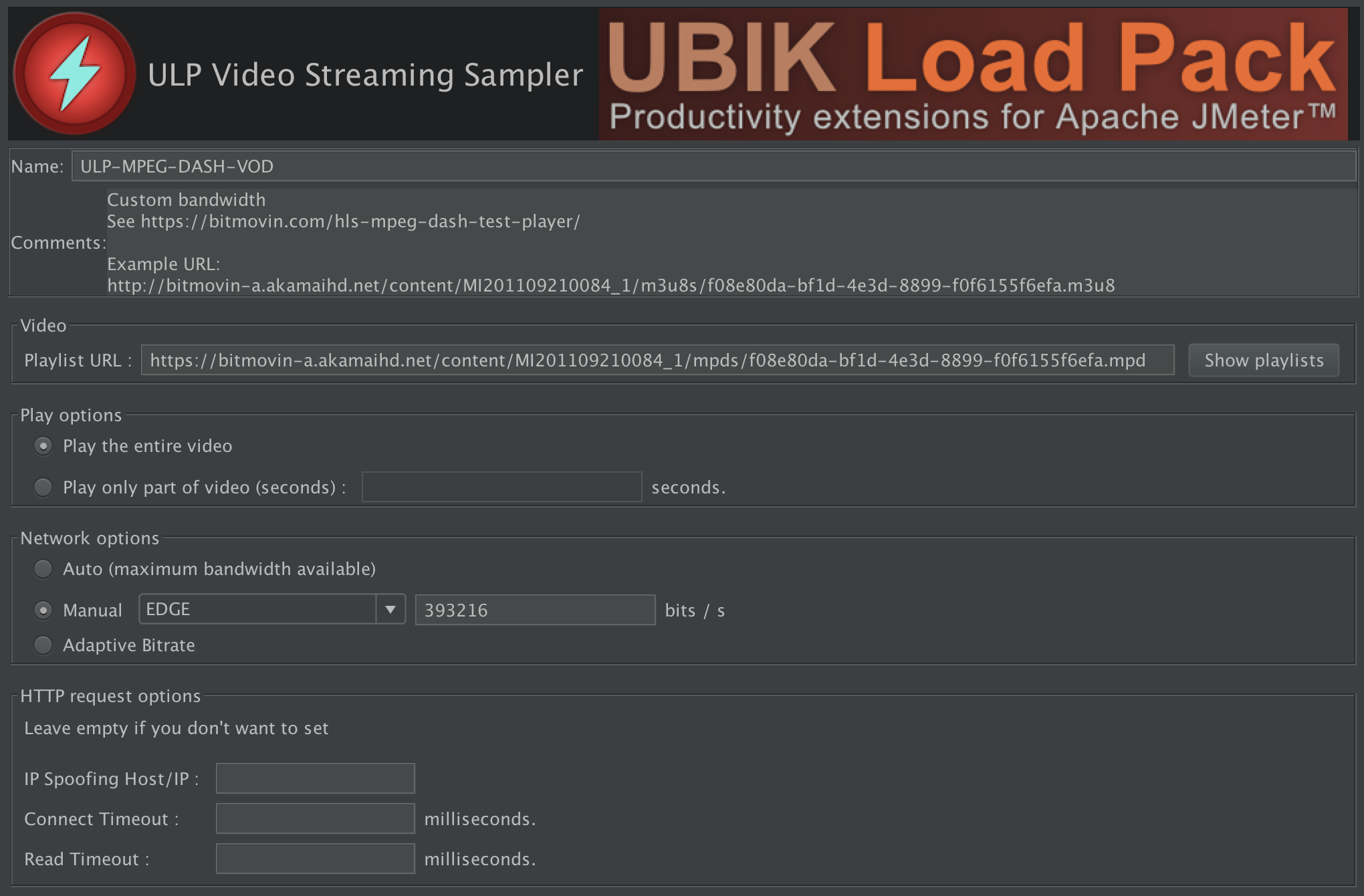 UbikLoadPack Video Streaming Plugin 6.1.0 for Apache JMeter
