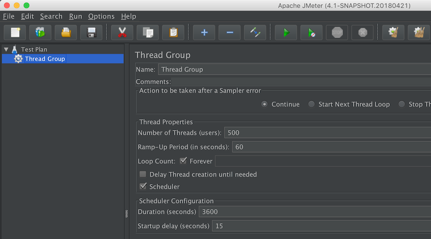JMeter : Thread Group Configuration