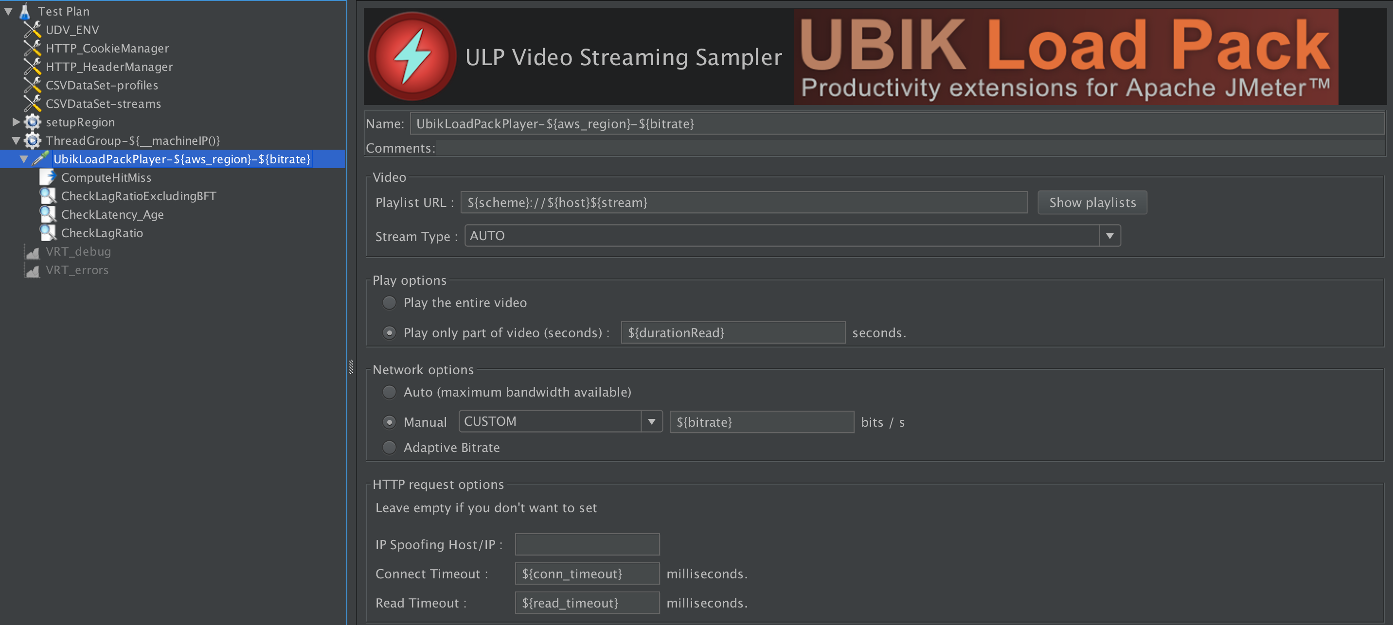 UbikLoadPack Player configuration