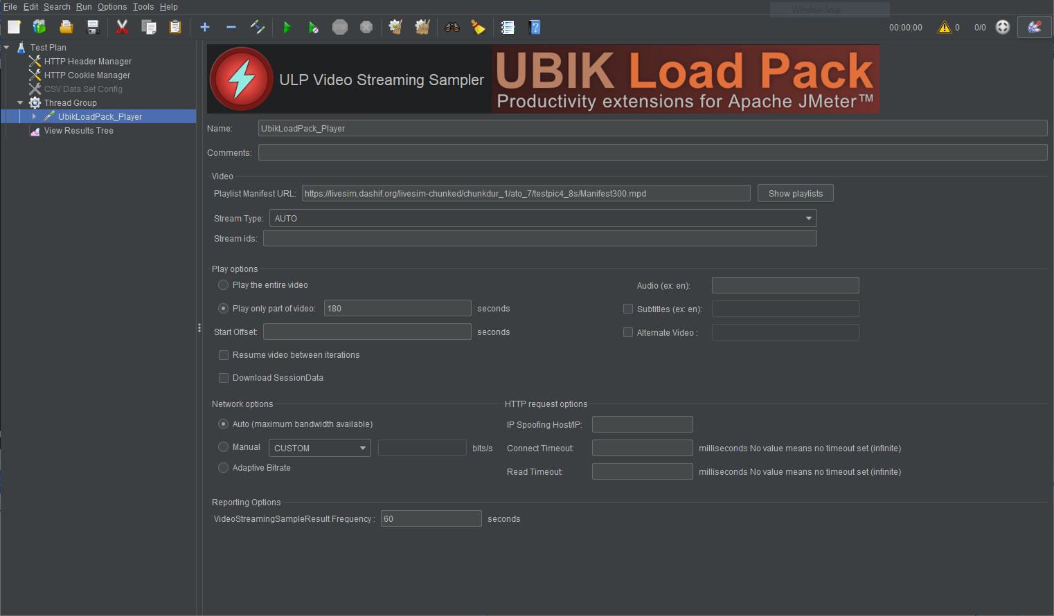 UbikLoadPack streamin Plugin  Low Latency Dash